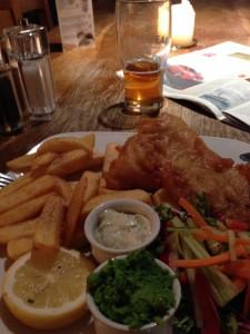 Pint, Fish & Chips - bliss