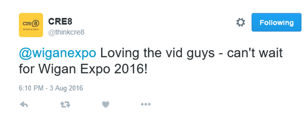 This is a reply. Only people who also follow @wiganexpo will see this tweet.