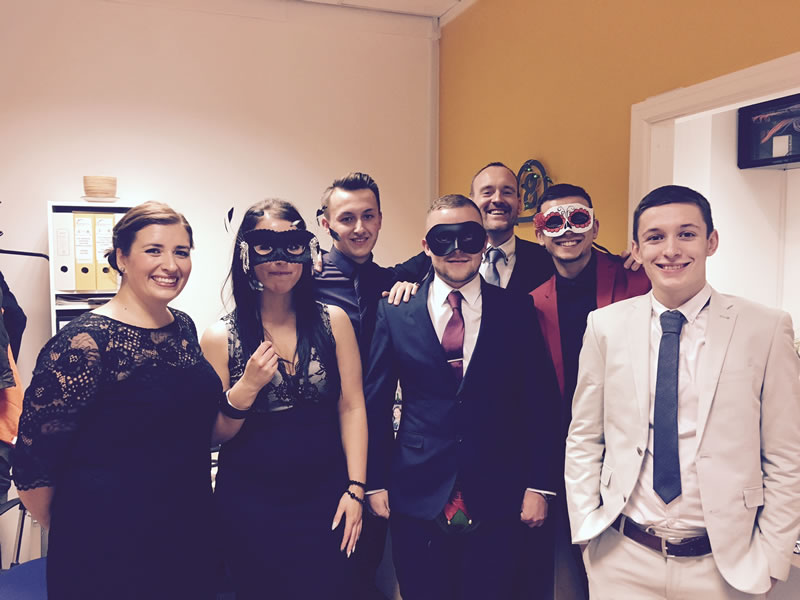 CRE8 Goodguys ready for the Masquerade ball at Event City Manchester