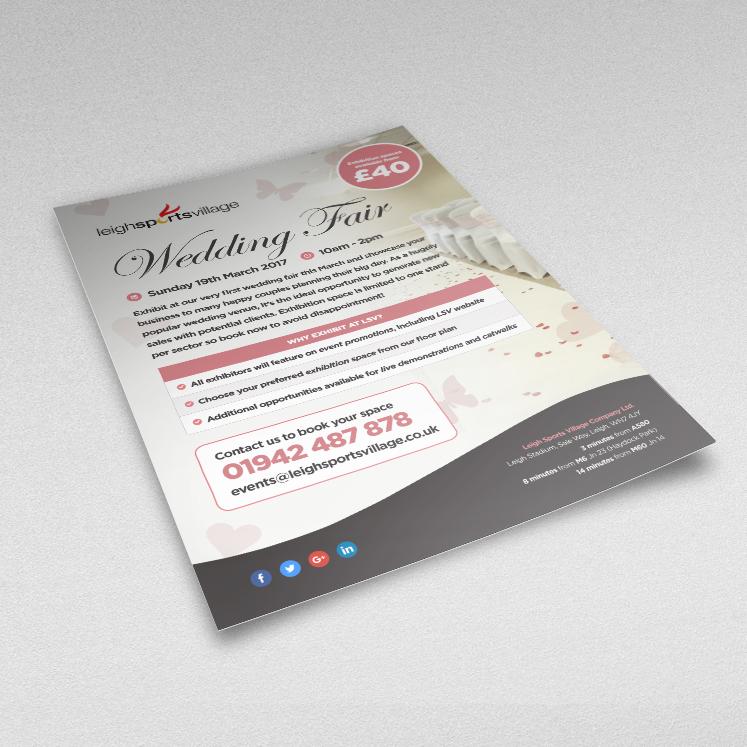 Leigh Sports Village wedding fair flyer
