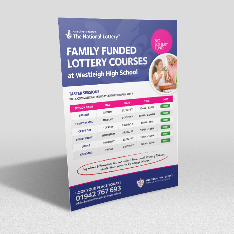 Westleigh High School lottery funded course flyers