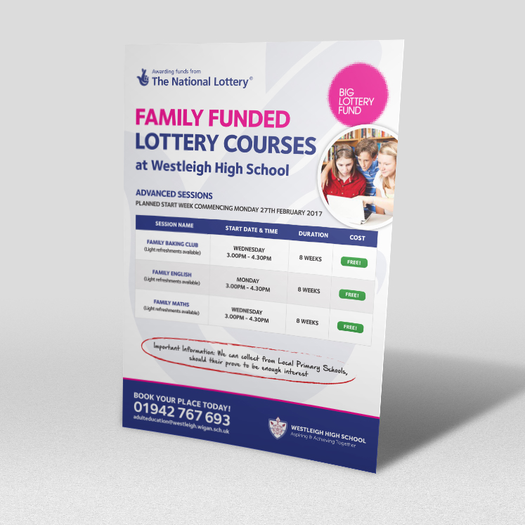 Westleigh High School lottery funded courses