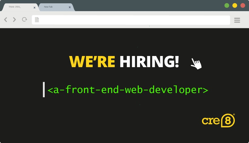 We're Hiring…Front End Web Developer Apprentice