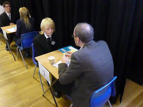 Paul supporting Westleigh for mock interviews