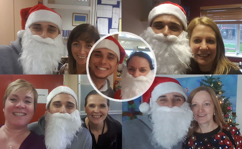 Collage of our Christmas school visits