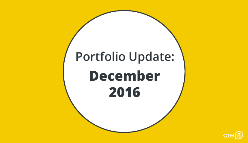 Portfolio update for December 2016 featured image